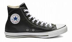 Converse Chuck Taylor Hi Leather Black-7.5 čierne 132170C-7.5