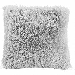 Dekoračný Vankúš Fluffy, 45/45cm, Svetlosivá