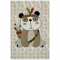 Detský Koberec Panda, 100/150cm, Béžová