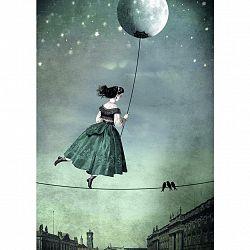 Postkarte Junique In Grün/schwarz